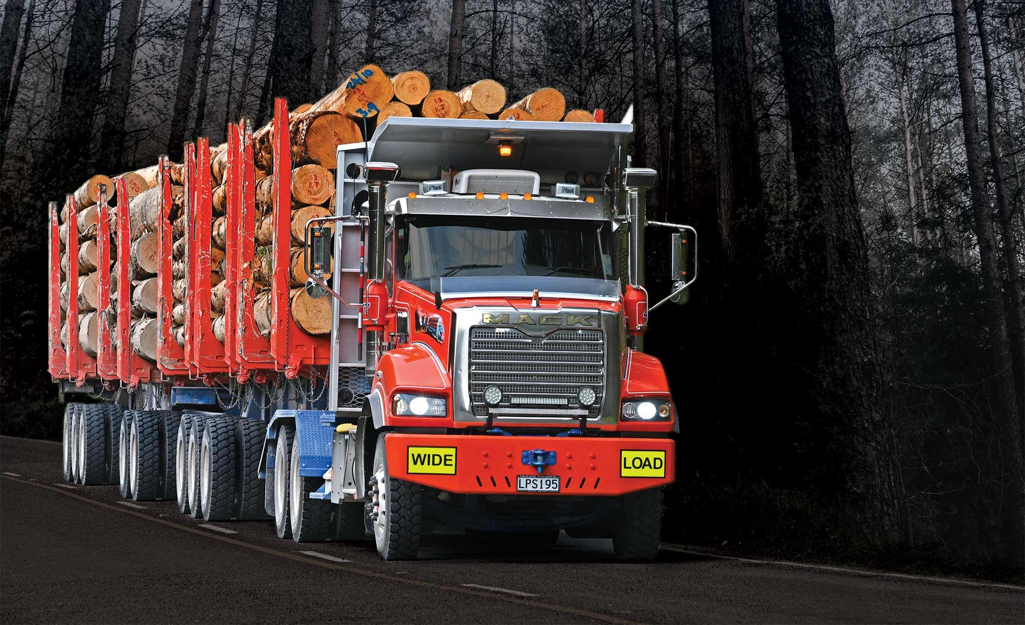 Logging-Truck-logging-trailer