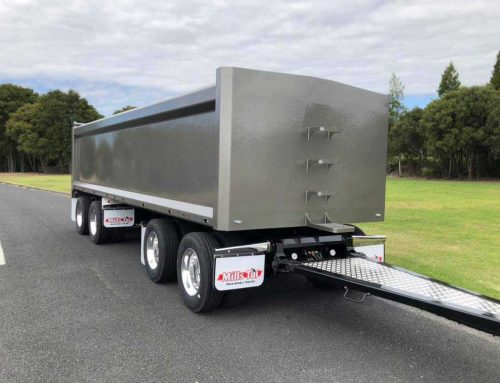 New 7.3m Low Rider Trailer for Sherlock Contracting