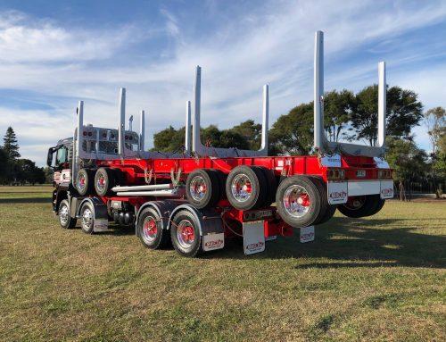 New log truck for Woodstock
