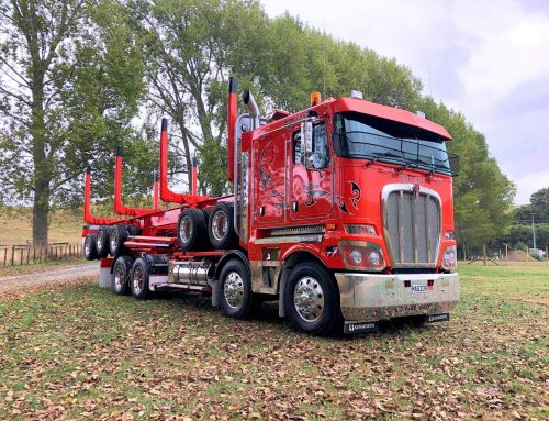 Blood Orange Kenworth K200 Log Truck