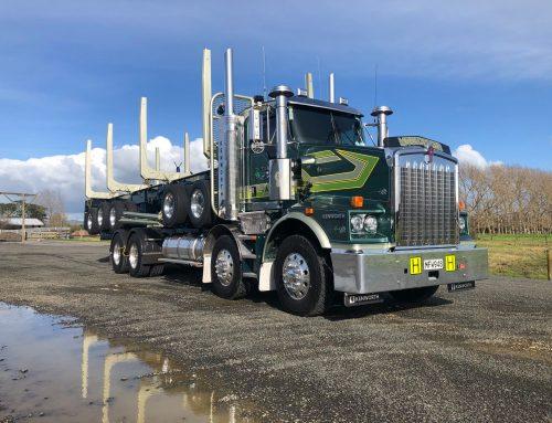 Mills-Tui log truck set up for CAT Logging