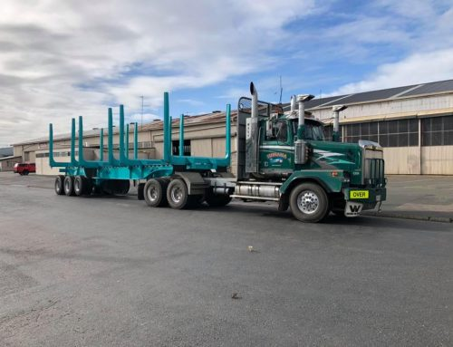 Off-highway trailer repaired, repainted
