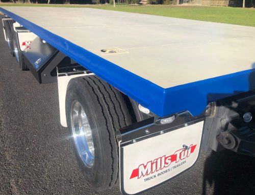 Three-axle flatbed trailer for Bowers & Sons